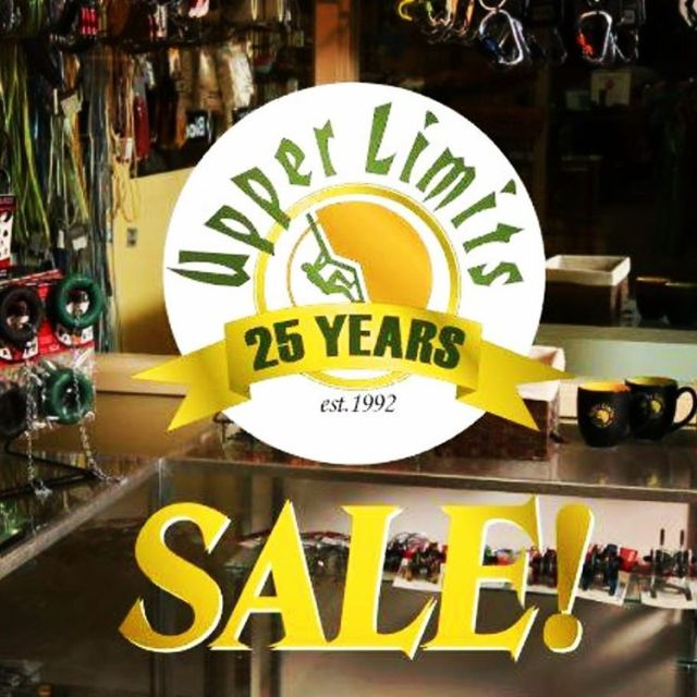REMINDER! Tomorrow begins Upper Limits 25 Year Anniversary Sale forhellip