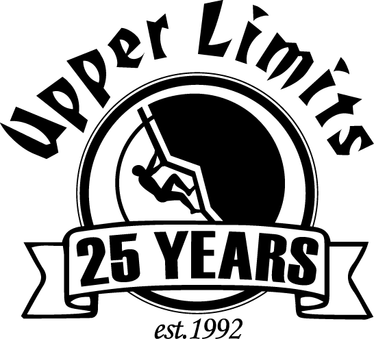 upper limits rock climbing 25 year anniversary logo