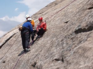 outdoor rescue rock climbing class at upper limits rock climbing gym in st. louis