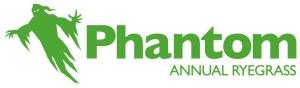 Phantom Annual Ryegrass Logo with a Ghost