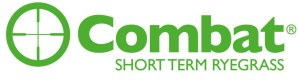 Combat Short Term Ryegrass Logo with scope