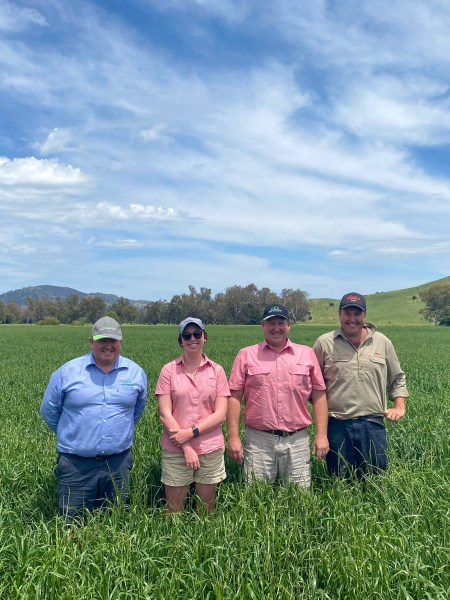 Group of customers with Upper Murray Seeds