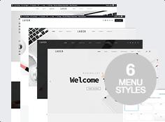 6 styles de menu