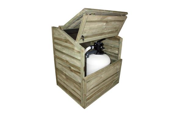 coffre de filtration et abris de pompe