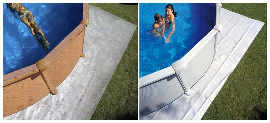 gre tapis de sol pour piscine hors