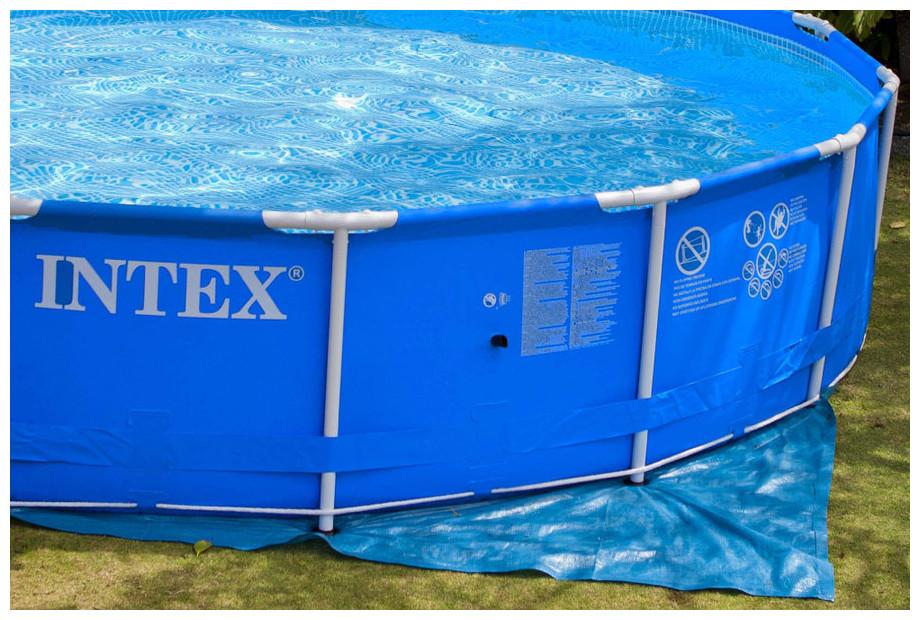 tapis piscine intex hors sol 244 a 457 cm