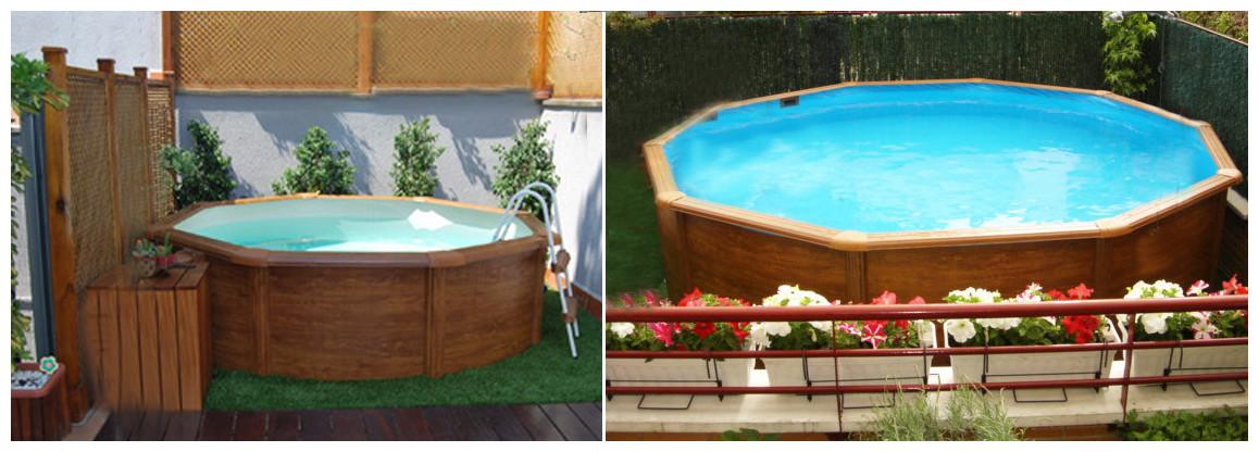 san marina piscine en kit acier deco bois hors sol o360 x 120 cm