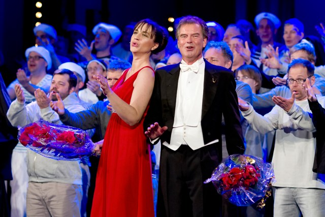 Petra Mede och Olle Persson