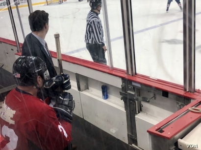 Stauber committed the only penalty in the charity hockey game. (Photo: C. Presutti)