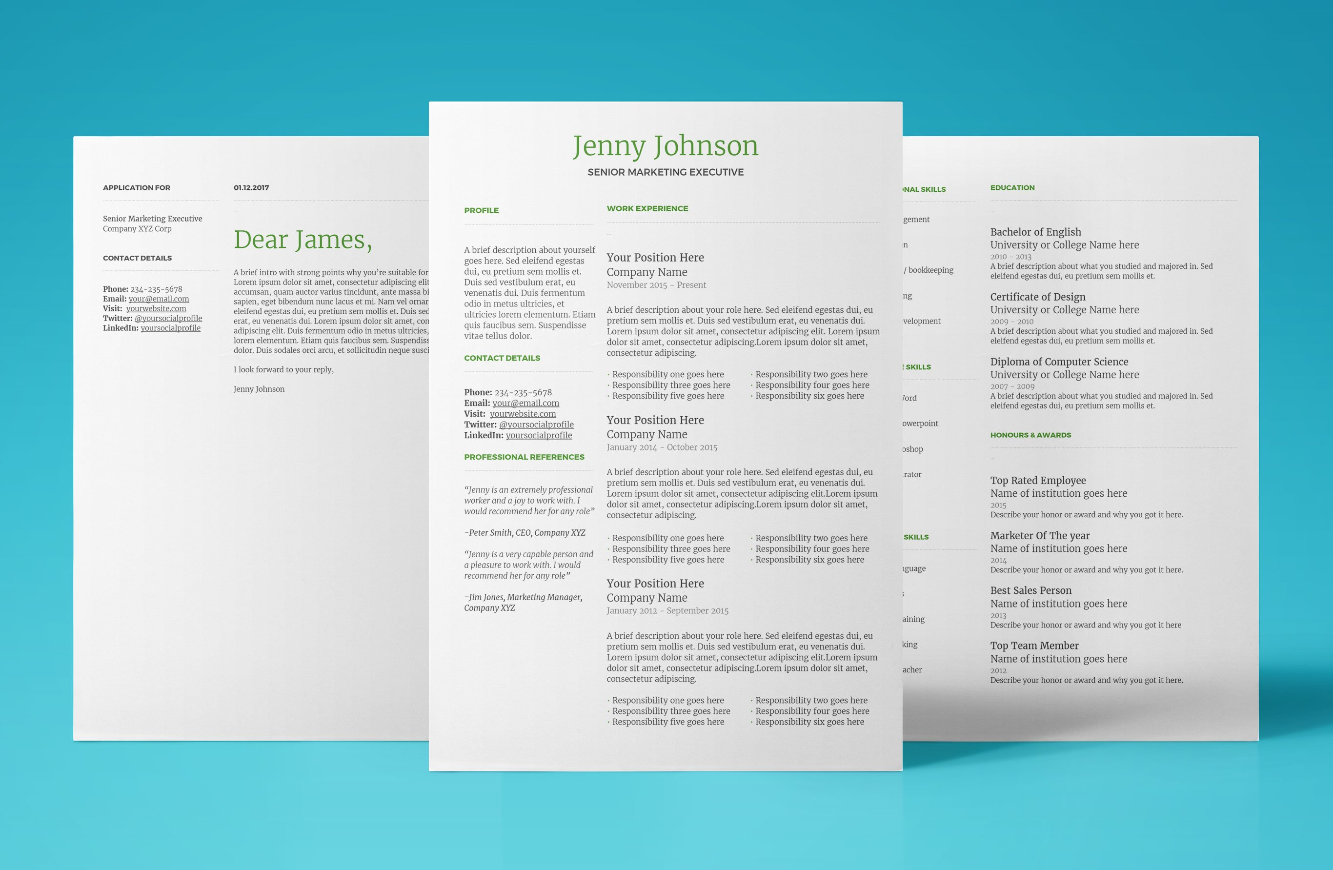 Google Docs Resumes Templates Resume Template For Google Docs Instant Download 2018