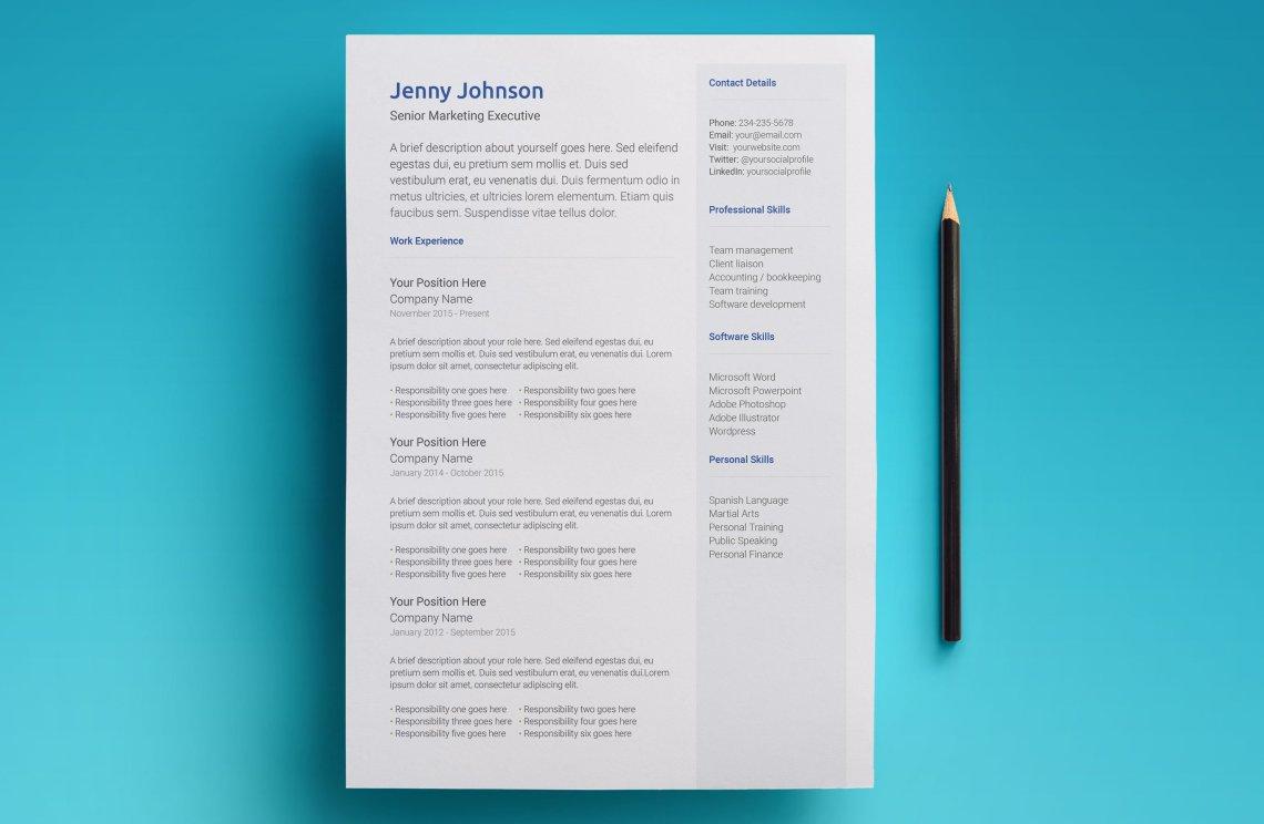 Free Google Docs Resume Template Modern 2018 Design CV Resume