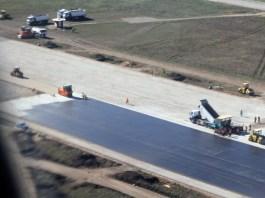 Будівництво нової злітно-посадкової смуги аеропорту «Одеса» продовжується (фото)