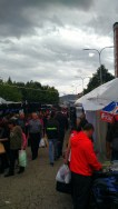 Twice a year there's a big market in Kavadartsi called Panajur. We went but it POURED rain