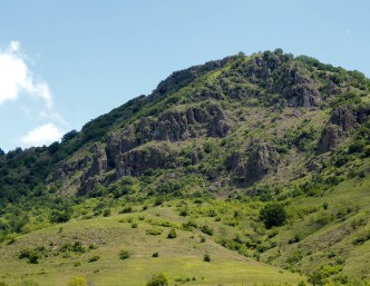 The beautiful rocky hill is the backdrop of Orel
