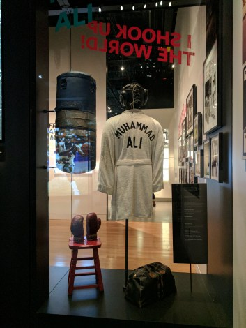 Muhammad Ali's robe and gloves