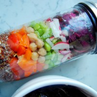 Hearty Rainbow Mason Jar Salads