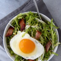 Frisée Breakfast Salad with Bacon and Eggs