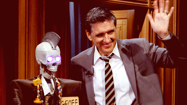 Funniest Break In Late-Night History Involved Craig Ferguson And A Talking Robot