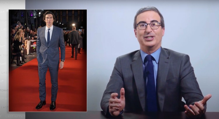 John Oliver Explains His Obsession Of Brooding Mountain Adam Driver