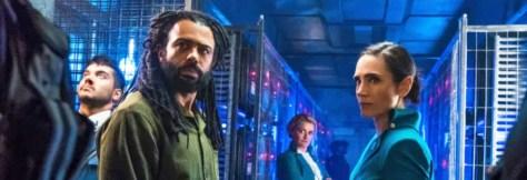 Daveed Diggs en Jennifer Connelly in Snowpiercer S1 recensie op Netflix België