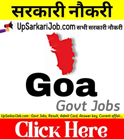 Goa Government Jobs Govt Jobs in Goa Goa Govt Jobs