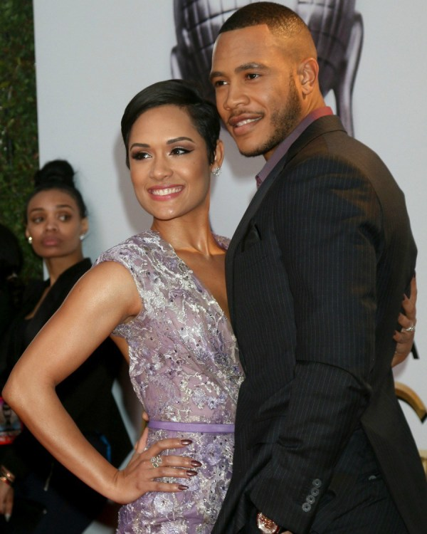 47TH NAACP Image Awards held at the Pasadena Civic Auditorium - Arrivals Featuring: Grace Gealey, Trai Byers Where: Pasadena, California, United States When: 05 Feb 2016 Credit: Nicky Nelson/WENN.com