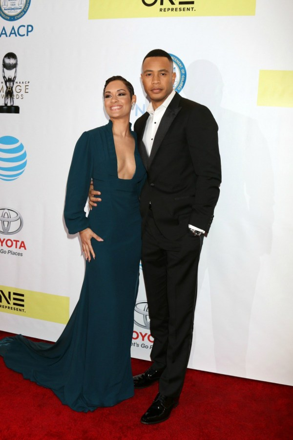 48th NAACP Image Awards at Pasadena Conference Center - Arrivals Featuring: Grace Gealey Byers, Trai Byers Where: Pasadena, California, United States When: 11 Feb 2017 Credit: Nicky Nelson/WENN.com