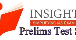 Insights IAS Prelims Test Series