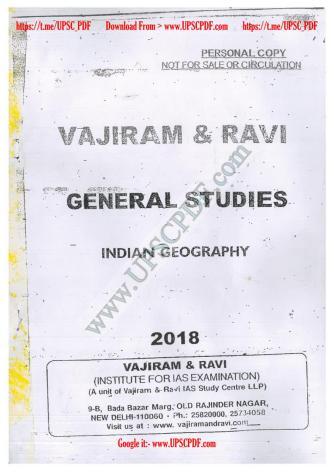 Vajiram and Ravi Indian Geography Printed Notes