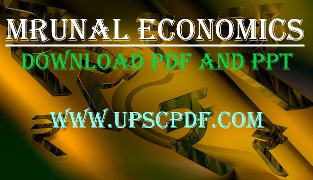 Unacademy Mrunal Economy 2019 Handout Lecture 1 – 22 PDF