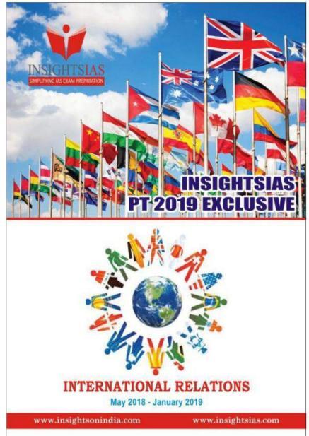 Insight IAS Prelims 2019 International Relation