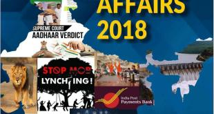 Apti Plus Current Affairs 2018 June – December 2018