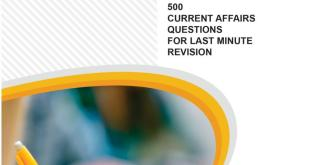 Fortune IAS Prelims 500 Current Affairs MCQ Series PDF