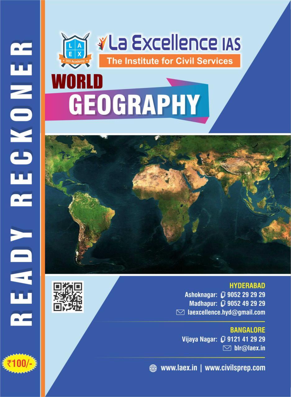 La Excellence Ready Reckoner World Geography PDF | | UPSC PDF