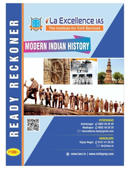 Modern Indian History ready Reckoner