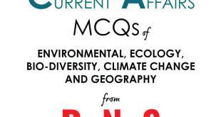 Rau IAS DNS Current Affairs MCQ 2019 Environment PDF