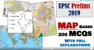 UPSC Prelims 2019 Map related 200 MCQ