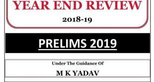 Year End Review Summary 2018-19 By MK YadavYear End Review Summary 2018-19 By MK Yadav
