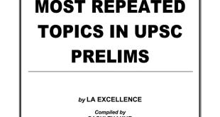 Most Repeated Topics in UPSC Prelims PDF Download