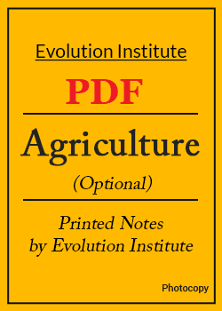 Evolution IAS Agriculture Notes PDF Download