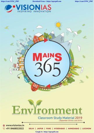 VISION IAS MAINS 365 ENVIRONMENT