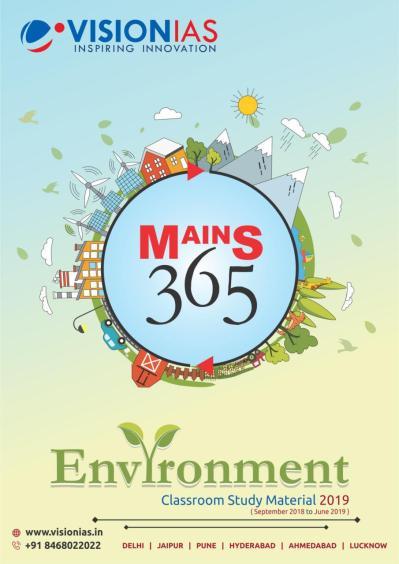 Vision IAS Mains 365 Environment 2019 PDF