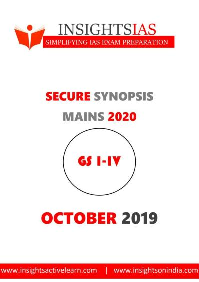 Insights IAS Secure Synopsis October 2019
