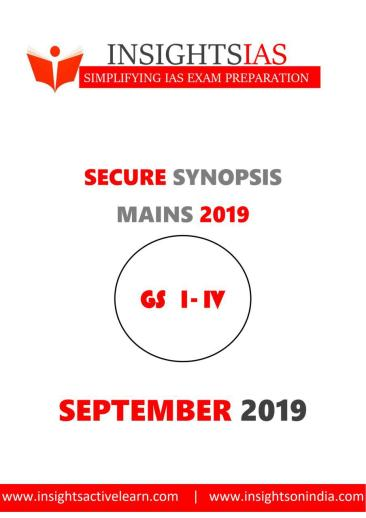 Insights IAS Secure Synopsis Compilations September 2019 PDF