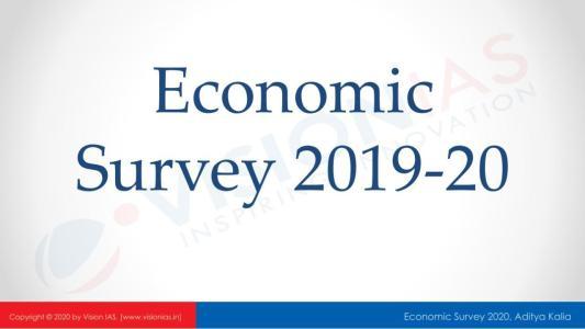 Vision IAS Economic Survey 2019-20