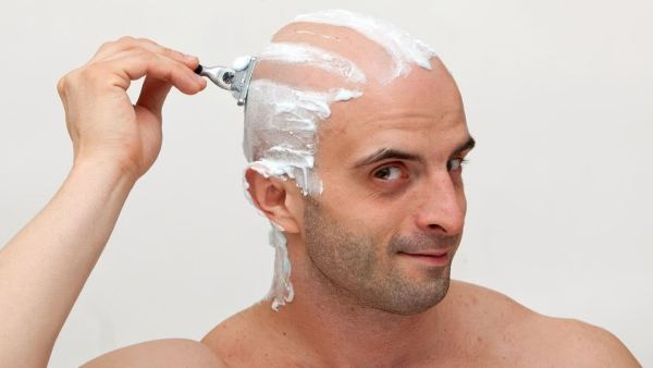 Shave Your Head with Shaving cream