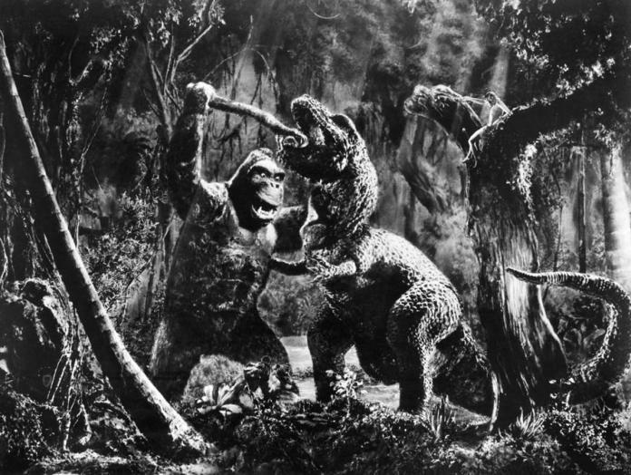 Fight between King Kong & T-Rex