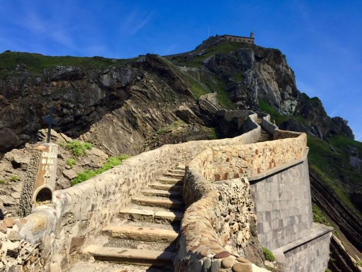 San Juan de Gaztelugatxe stairway to the top