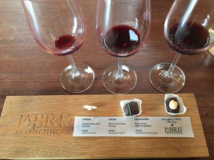 Wine tram experience south africa: La Bri Wine &Chocolate Tasting