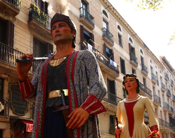 Barcelona's fiesta de Merce giants king and queen